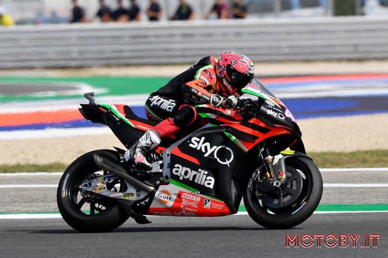 Espargarò durante la MotoGP Misano