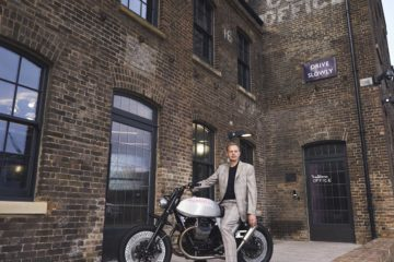 Tom Dixon sulla Moto Guzzi V7 Tomoto