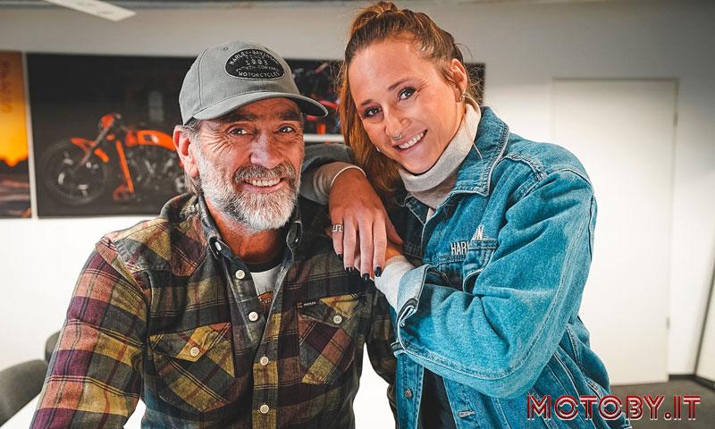 Andreas Bergerforth, fondatore di Thunderbike, con con la figlia Kim,