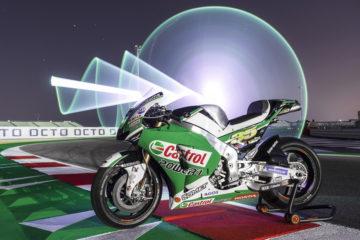 La Honda RC213V MotoGP alla mostra in aiuto degli ospedali bresciani contro il Coronavirus