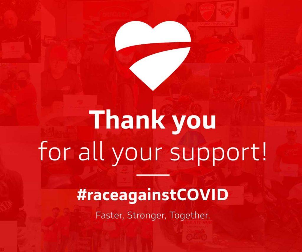 raceagainstCovid Ducati
