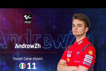 Andrea Saveri e il Ducati Corse eSport team