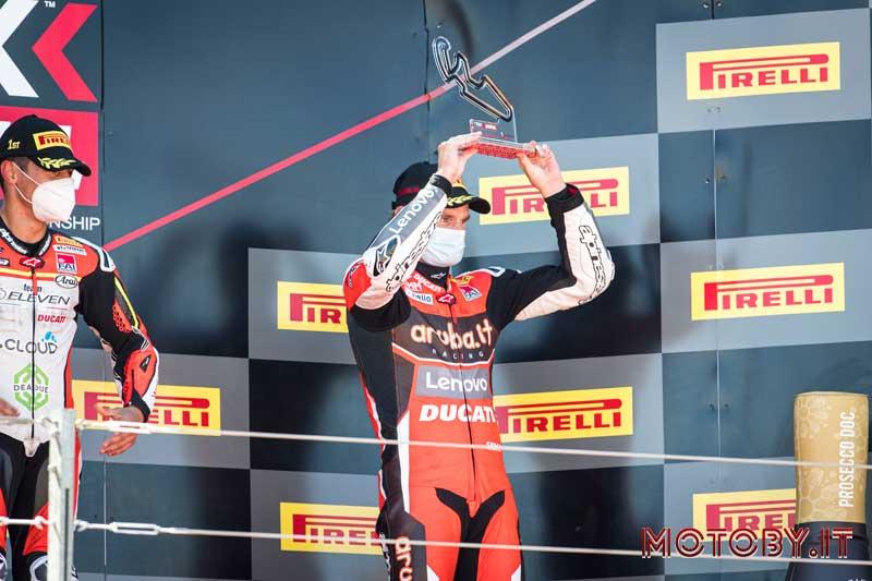 Aruba Ducati Chaz Davies podio