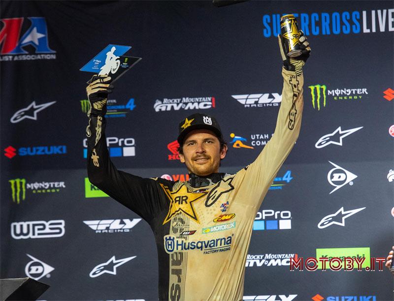 Jason Anderson sul podio AMA Supercross