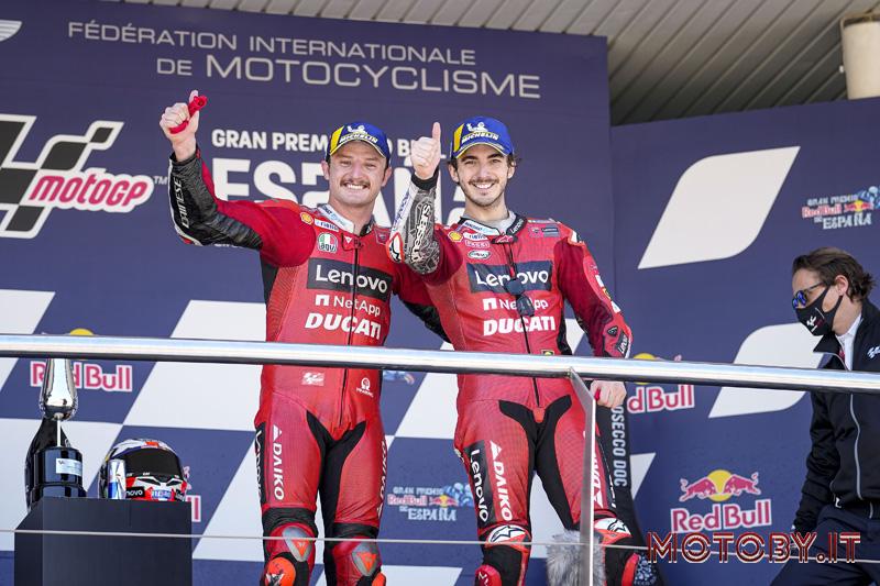 Jack MIller e Francesco Bagnaia - Podio Ducati - Jerez