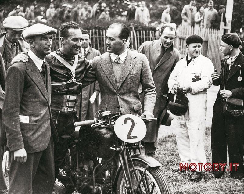 Carlo Guzzi, Stanley Woods e Giorgio Parodi nel 1935