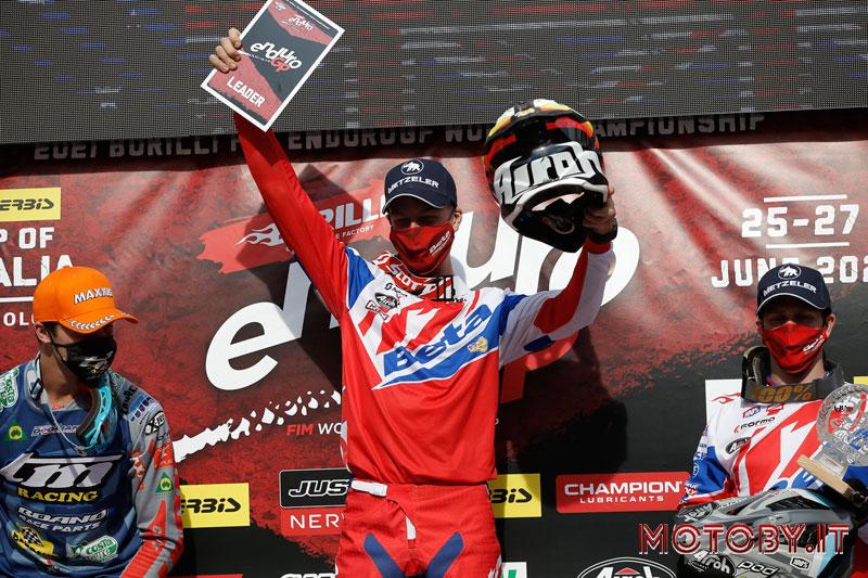 Brad Freeman sul podio Enduro GP