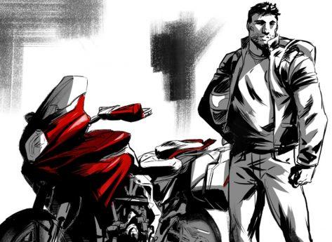 I modelli delle motociclette MV Agusta in fumetto